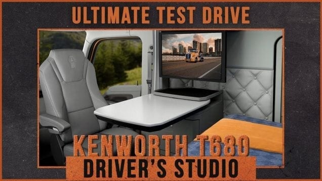 Ultimate Test Drives… Take a Tour of the Kenworth T680 Driver's Studio