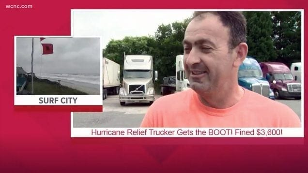 Hurricane Relief Trucker Gets the Boot