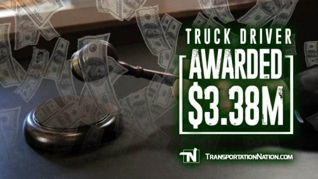 Truck Driver Awarded 3.38MILL-2