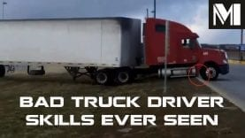 BAD Truck Driver Skills Ever Seen – EXTREME Truck Fail on the Street Compilation