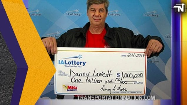 Trucker Wins 1 Million Dollar Lottery