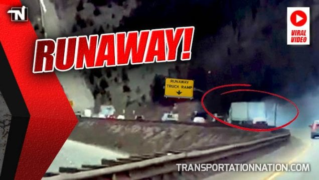 Runaway Truck Takes Ramp in Viral Video