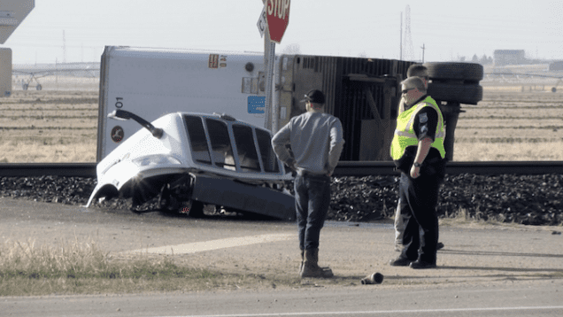 Semi/Train Crash Kills 2