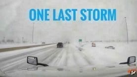 My Trucking Life | ONE LAST STORM ❄️ | #1687