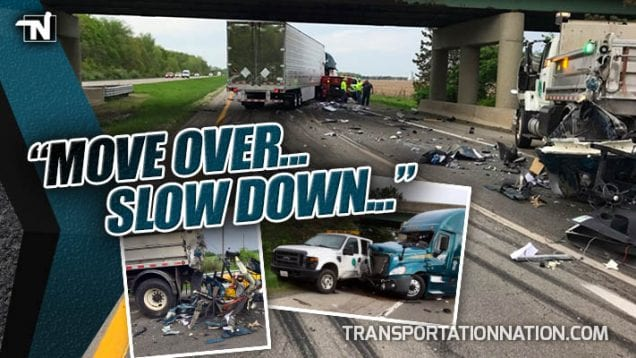 ODOT Tells Truckers MOVE OVER, SLOW DOWN after truck hits two ODOT cars in a row