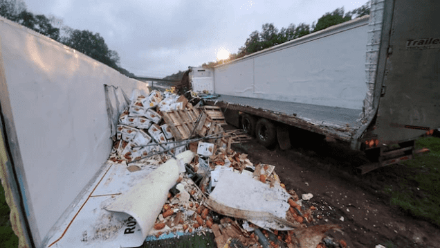 Trucker Turns Load Into Sweet Potato Mash Along I-78 In New Jersey