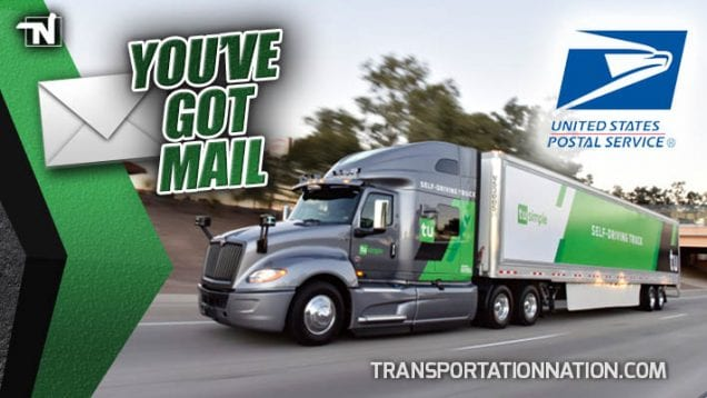 You've Got Mail – TruSimple Self Driving Trucks and USPS