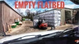 My Trucking Life | EMPTY FLATBED | #1698