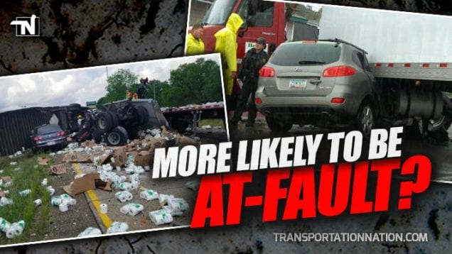 Are 4-Wheelers More Likely To Be At Fault During Accidents With Big Rigs