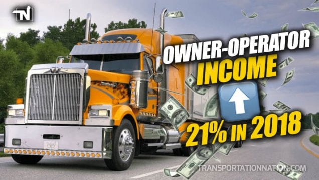Owner-Operator Income Jumped 21 Percent in 2018