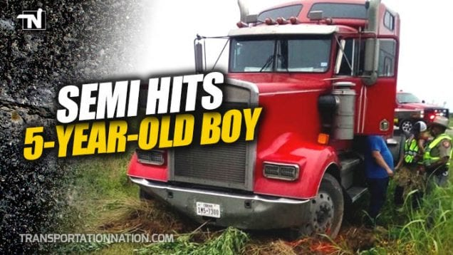 Semi Hits 5 Year Old Boy in Elgin Texas