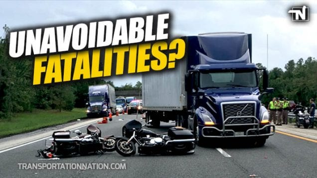 Unavoidable Fatalities in Motorcycle vs Big Rig Accident
