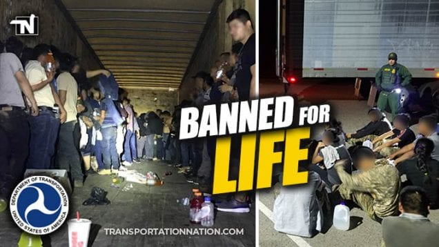 Department of Transportation Announced Ban for Life for Those Convicted of Human Smuggling