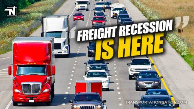 Freight Recession is Here