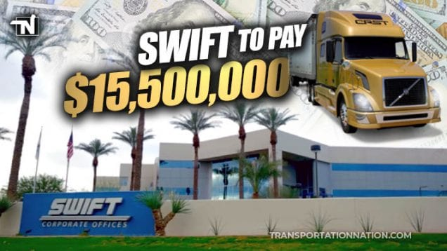 Swift to Pay CRST 15.5M