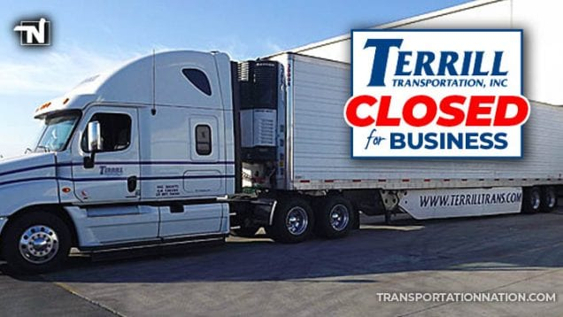 Terrill Transportation Closed for Business