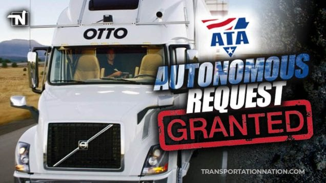 ata autonomous request granted by the fmcsa