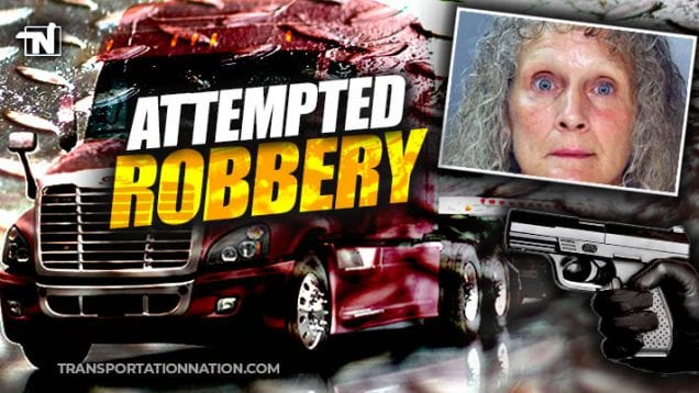 woman holds trucker at gunpoint while trying to steal his chains
