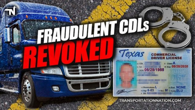 Fraudulent CDLs Revoked in Texas