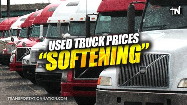 used truck prices softening
