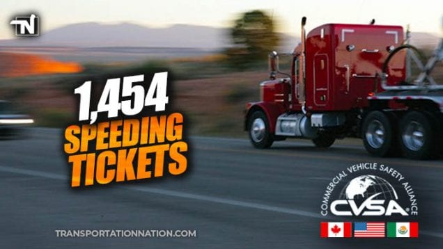 CVSA Enforcement Blitz – July 2019 – 1454 speeding tickets