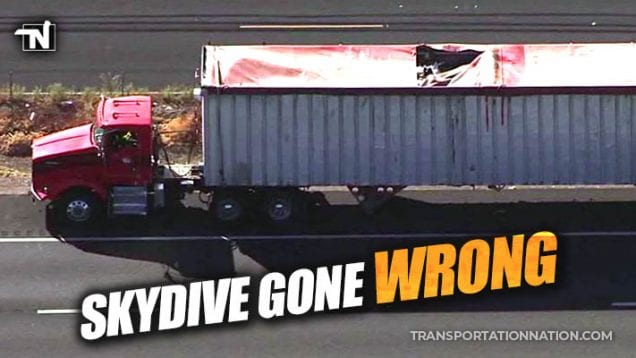 Skydiver Hits Big Rig in Lodi, CA and Dies