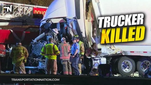 Trucker Killed in GA when semi slams into the back of a fire truck