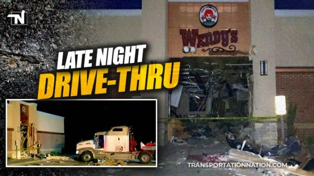 truck crashes through wendys