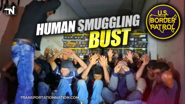 human smuggling bust – 32 found in 47 degree reefer trailer