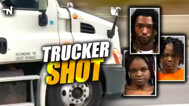 trucker shot – suspects arrested