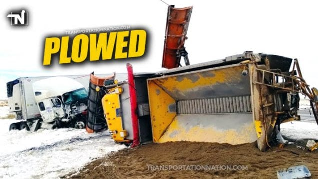 Big Rig strikes snow plow on I-80 in WY