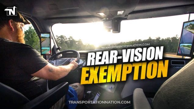 FMCSA grants rear-vision exemption