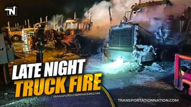 Late night truck fire in Pasco, Washington