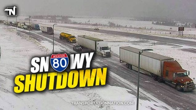 Snowy Shutdown on I-80 and other parts of Wyoming