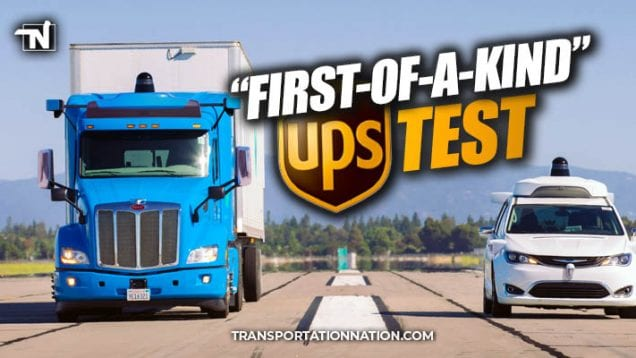 First of a kind UPS Test – Waymo