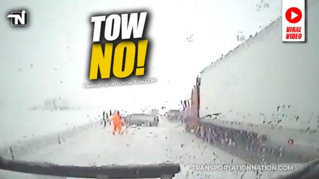 Tow Truck Operators Almost Get Crushed on DashCam