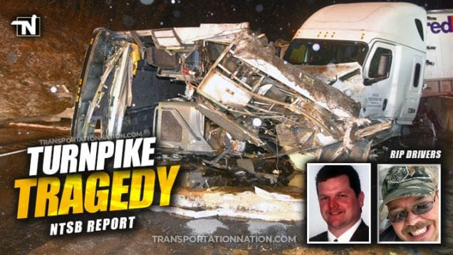Tragedy on the Pennsylvania Turnpike – NTSB Preliminary Report