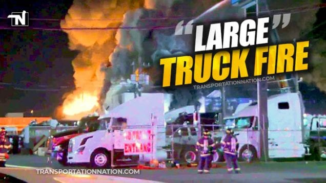 Elizabeth Truck Center Fire