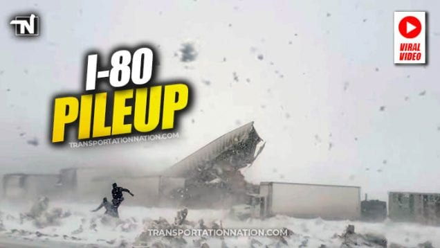 I-80 pileup viral video