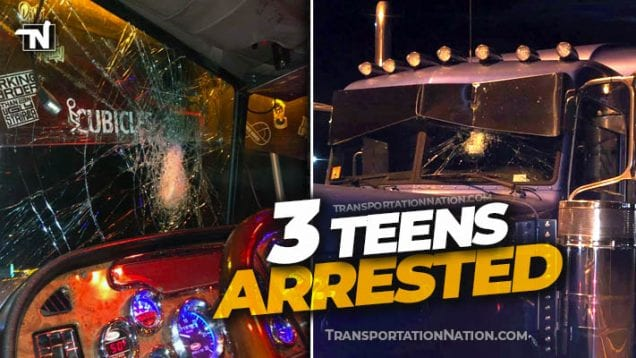 Face full of glass – 3 teens arrested