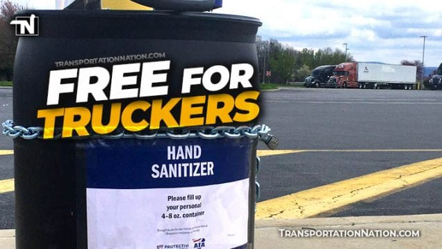 Free Hand Sanitizer for Truckers COVID19