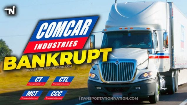 Comcar Industries Bankrupt