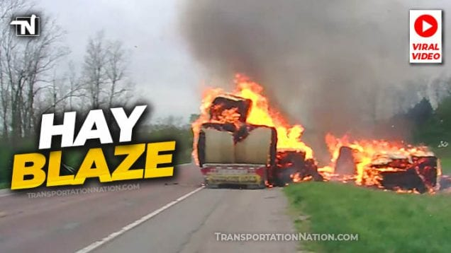 Hay Blaze in Iowa