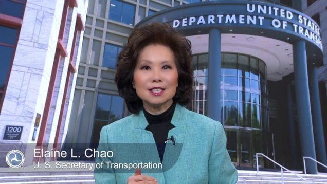 U.S. Secretary Elaine Chao Announces New Hours of Service Rules for America's Truckers