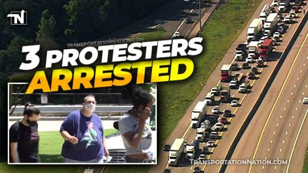 3 protesters arrested for slowing traffic on I-40