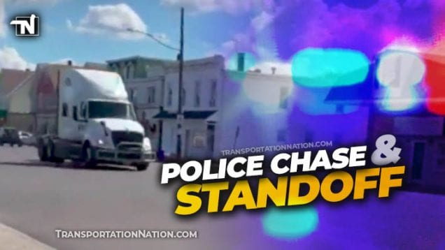 Police Chase and Standoff in Hazelton PA