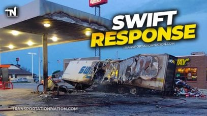 Swift hits Kum and Go fuel pump