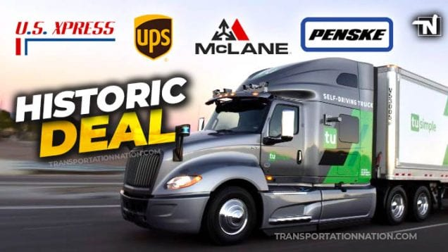 TuSimple join forces with US Xpress, McLane, Penske and UPS