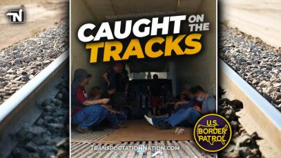 Big Rig Smuggling Bust on Railroad Tracks