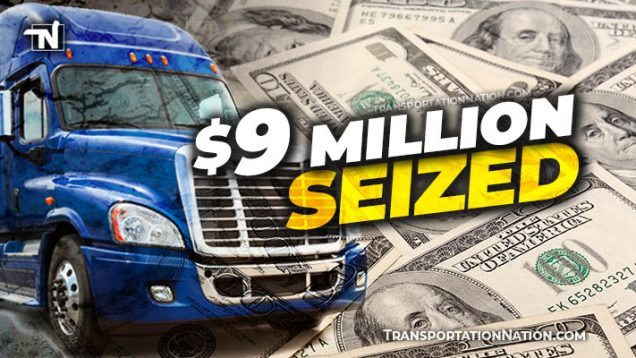 $9M seized from big rig in Illinois